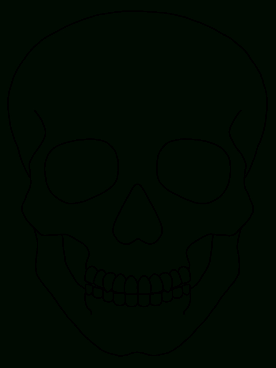 Blank Drawing Skull, Picture #962147 Blank Drawing Skull Intended For Blank Sugar Skull Template