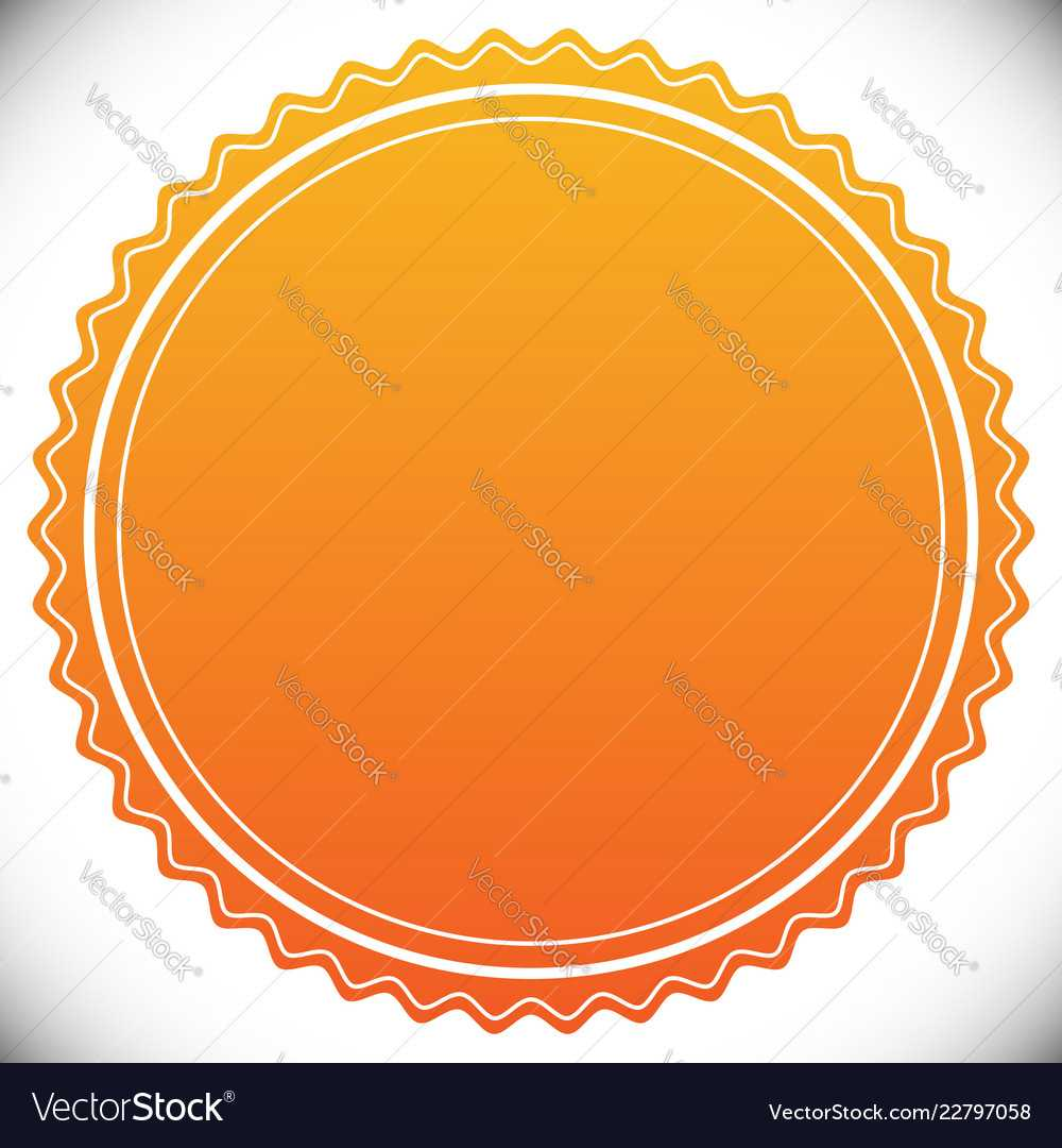 Blank Empty Stamp Seal Or Badge Template With Blank Seal Template