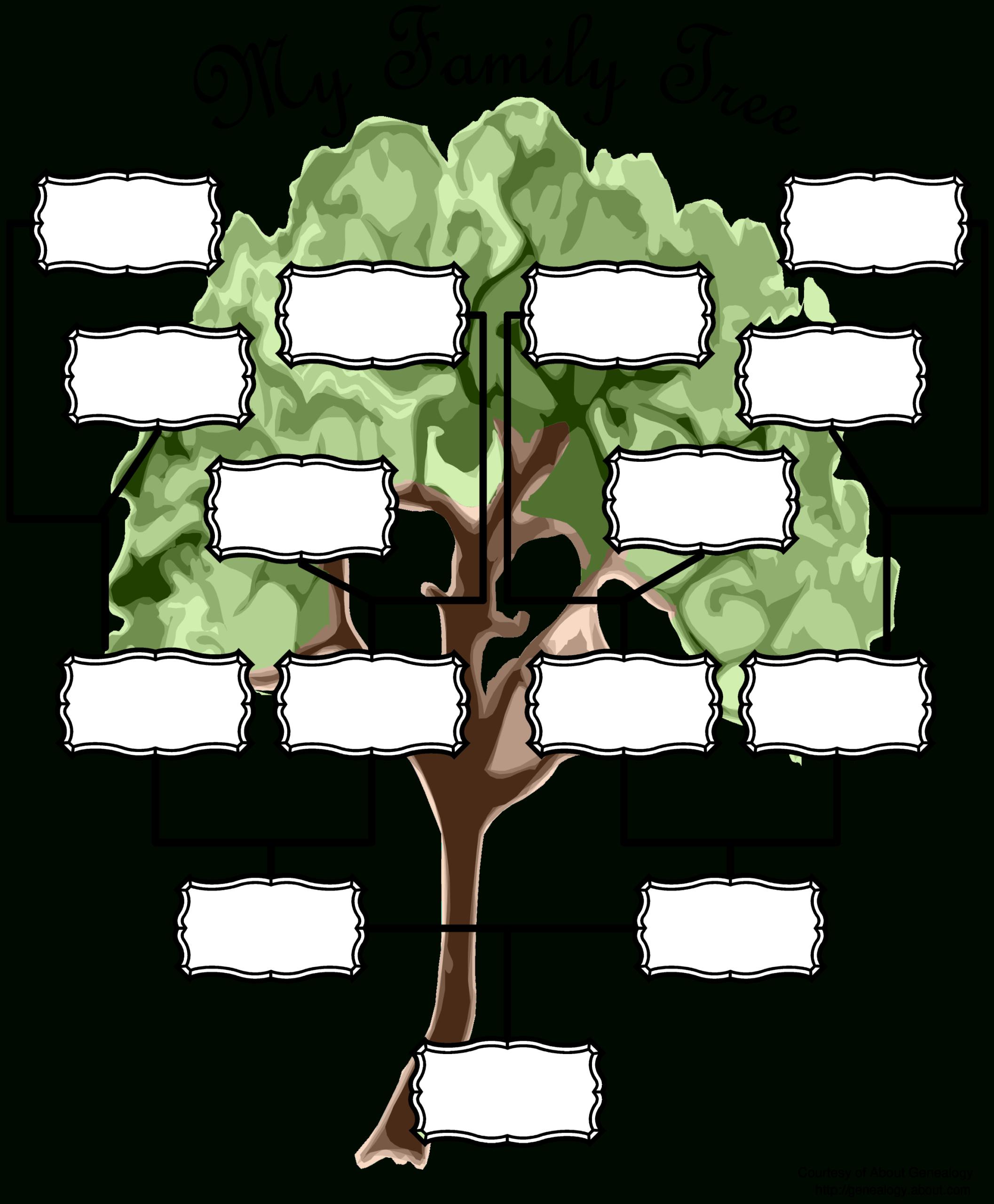 Blank Family Tree Chart   Templates At Allbusinesstemplates For Fill In The Blank Family Tree Template