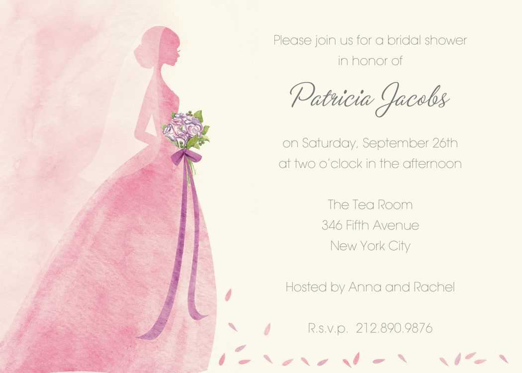 Blank Invitation Templates For Microsoft Word Wedding Free For Blank Bridal Shower Invitations Templates