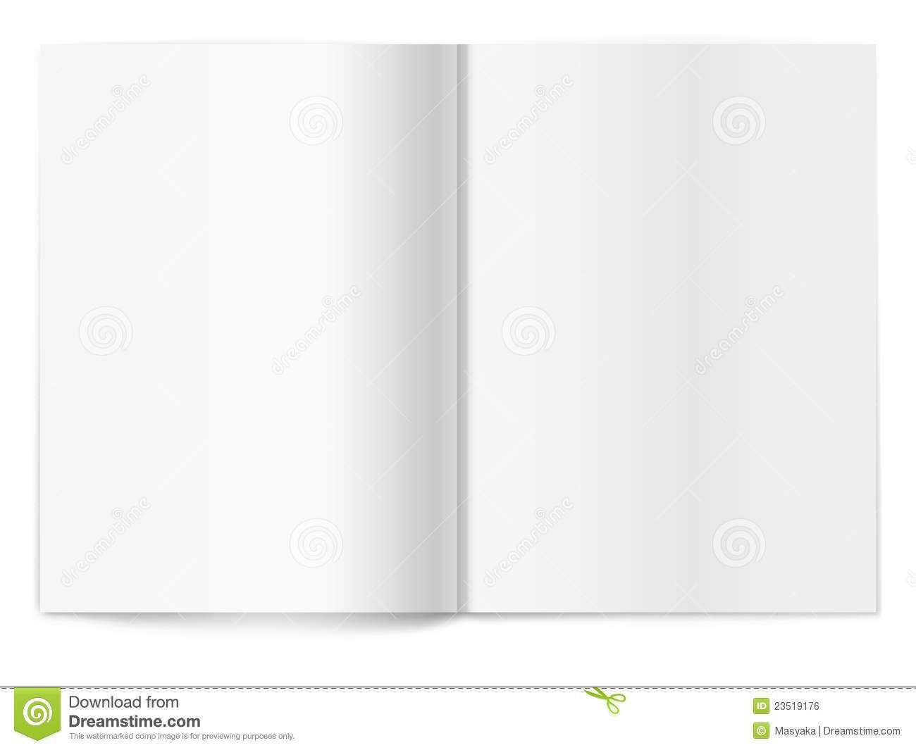 Blank Magazine Spread. Template For Design Stock Vector Regarding Blank Magazine Spread Template