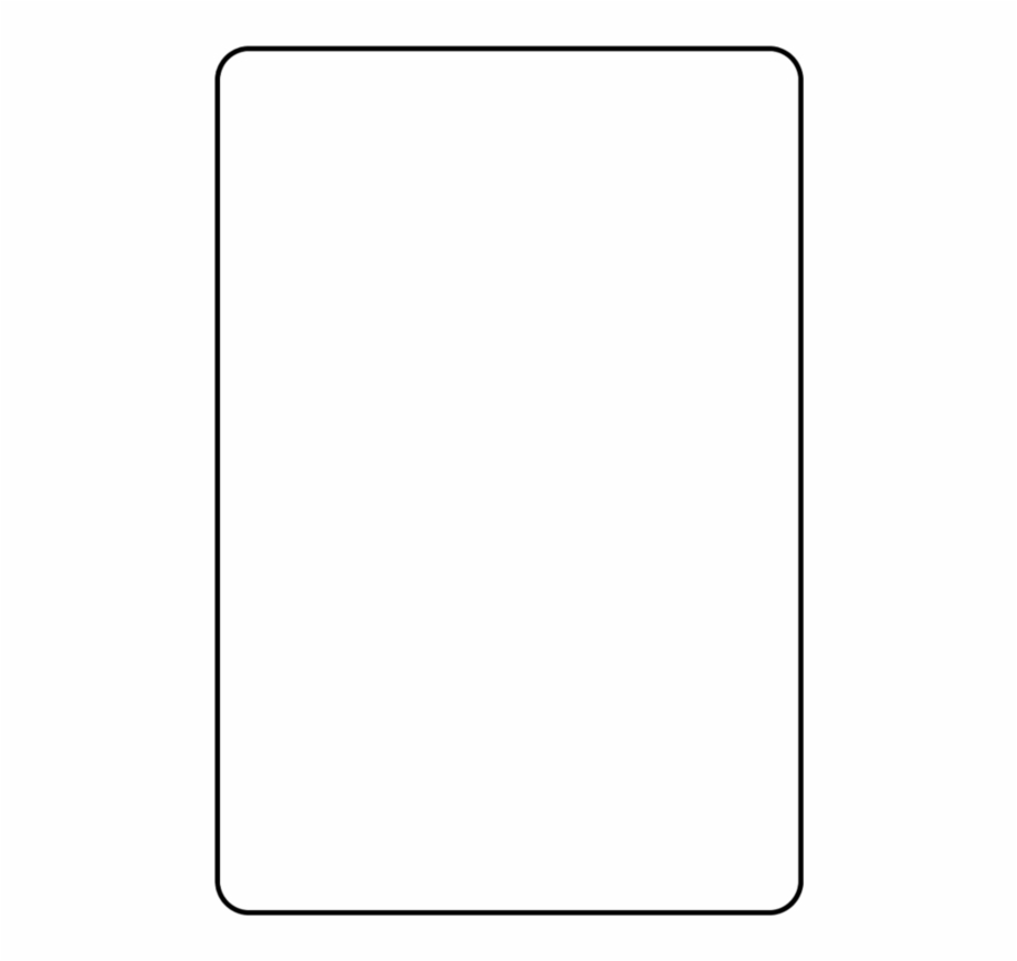 Blank Playing Card Template Parallel - Clip Art Library With Regard To Blank Playing Card Template