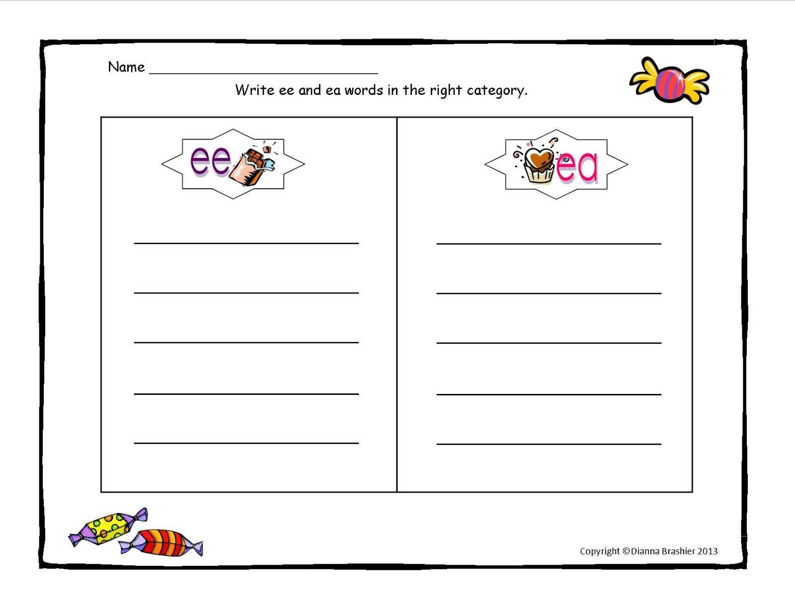 Blank Word Sort Template. Teaching Spelling Word Work On Regarding Words Their Way Blank Sort Template