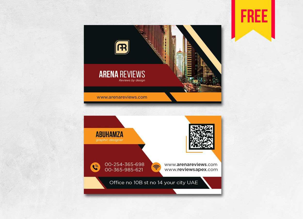 Building Business Card Design Psd – Free Download | Arenareviews Regarding Blank Business Card Template Photoshop