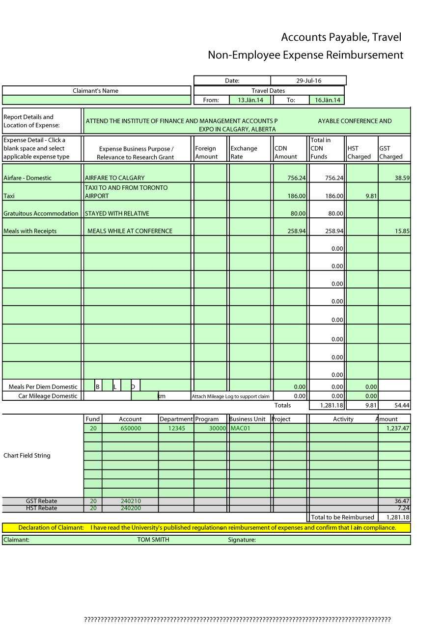Business Expense Report Template Free – Horizonconsulting.co Within Expense Report Spreadsheet Template Excel
