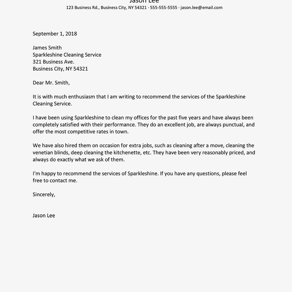 Business Reference Letter Examples Inside Business Reference Template Word