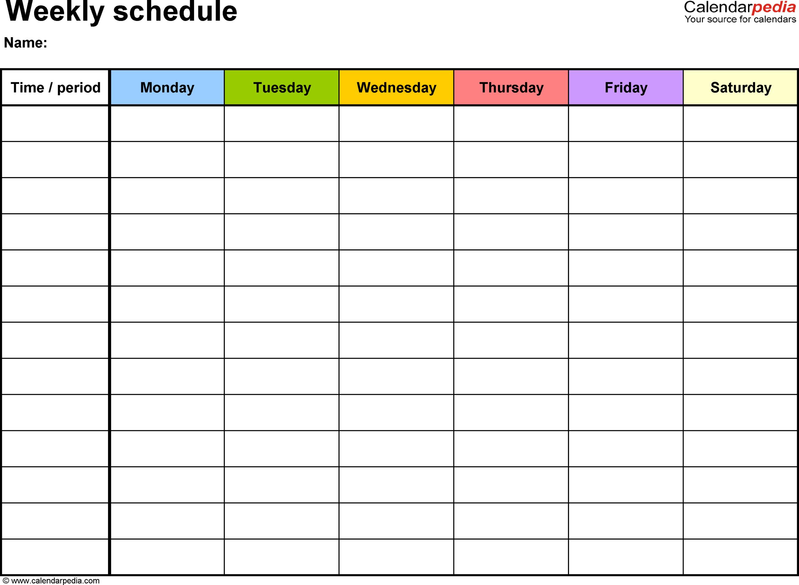 Calendar Work Schedule – Raptor.redmini.co Pertaining To Blank Monthly Work Schedule Template