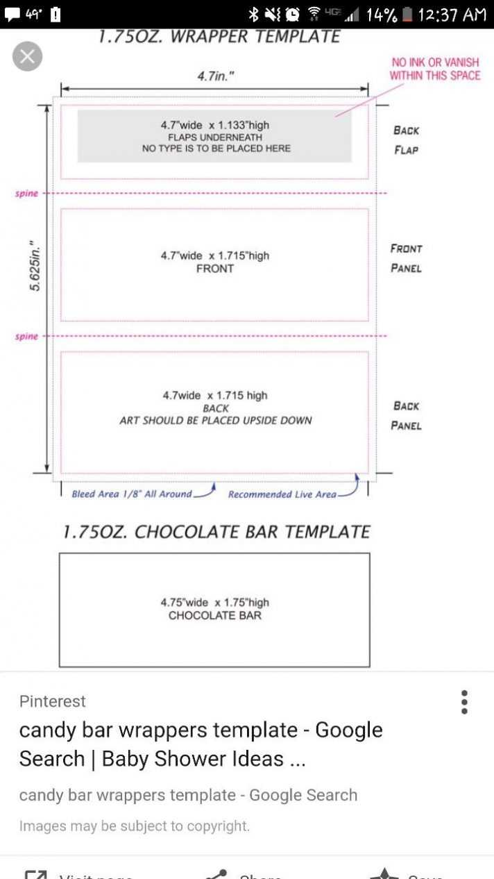 Candy Bar Wrapper Template Chocolate With Peanut Mock Up For Intended For Candy Bar Wrapper Template Microsoft Word