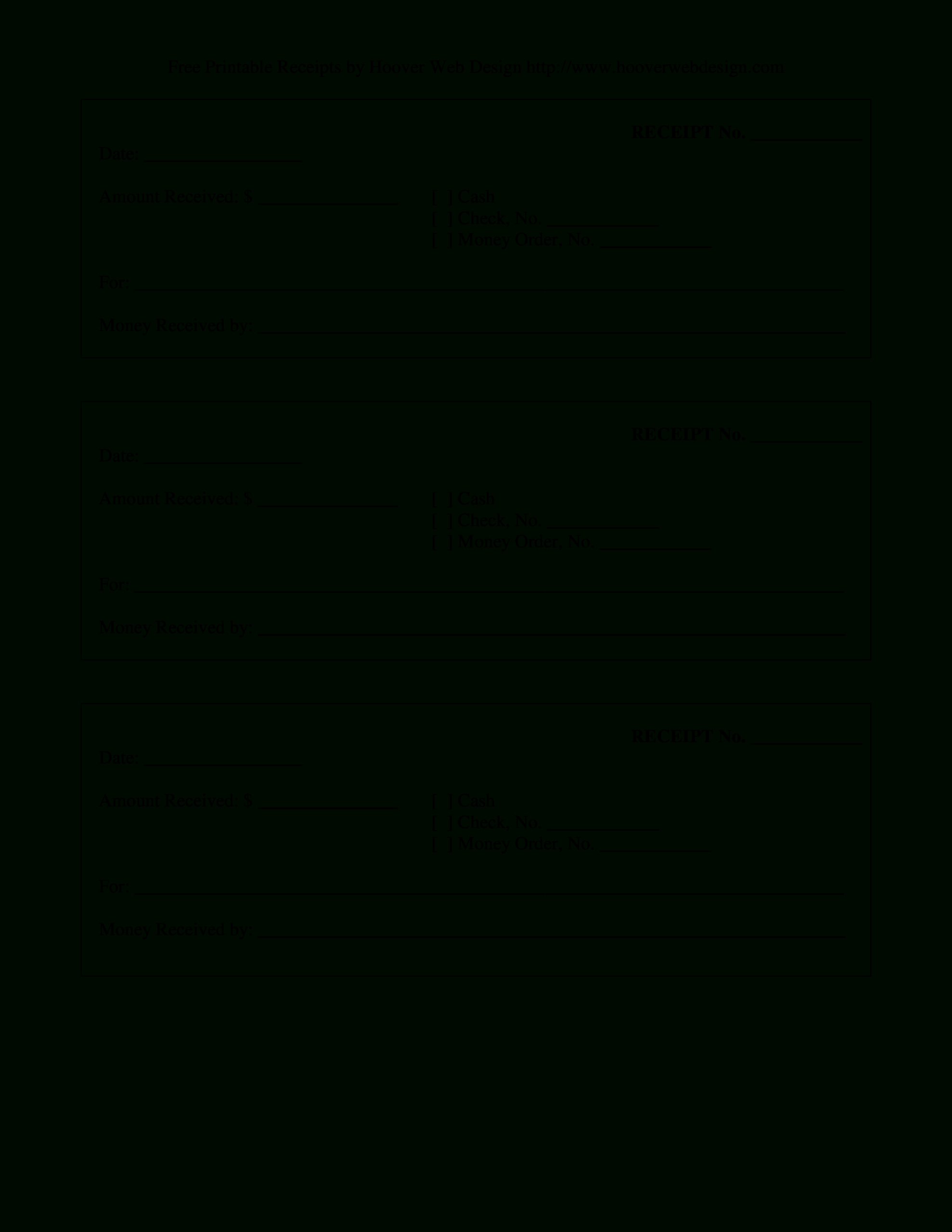 Cash Receipt Blank | Templates At Allbusinesstemplates With Blank Money Order Template