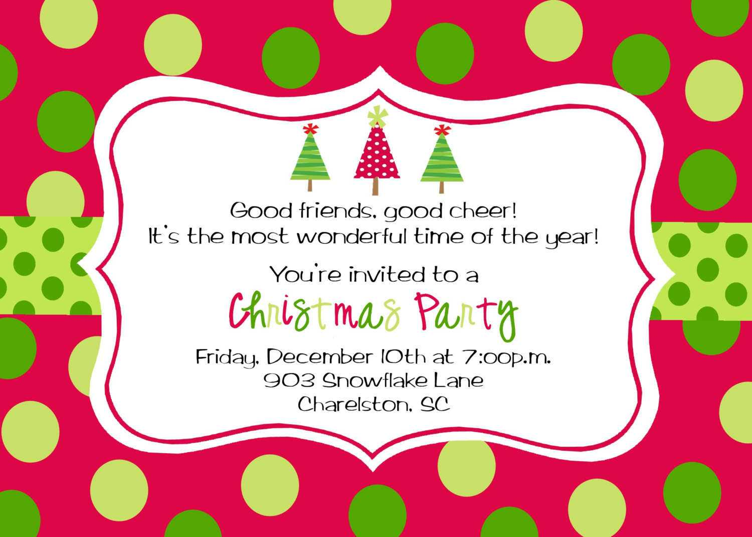 Christmas Invites – Template Inside Free Christmas Invitation Templates For Word