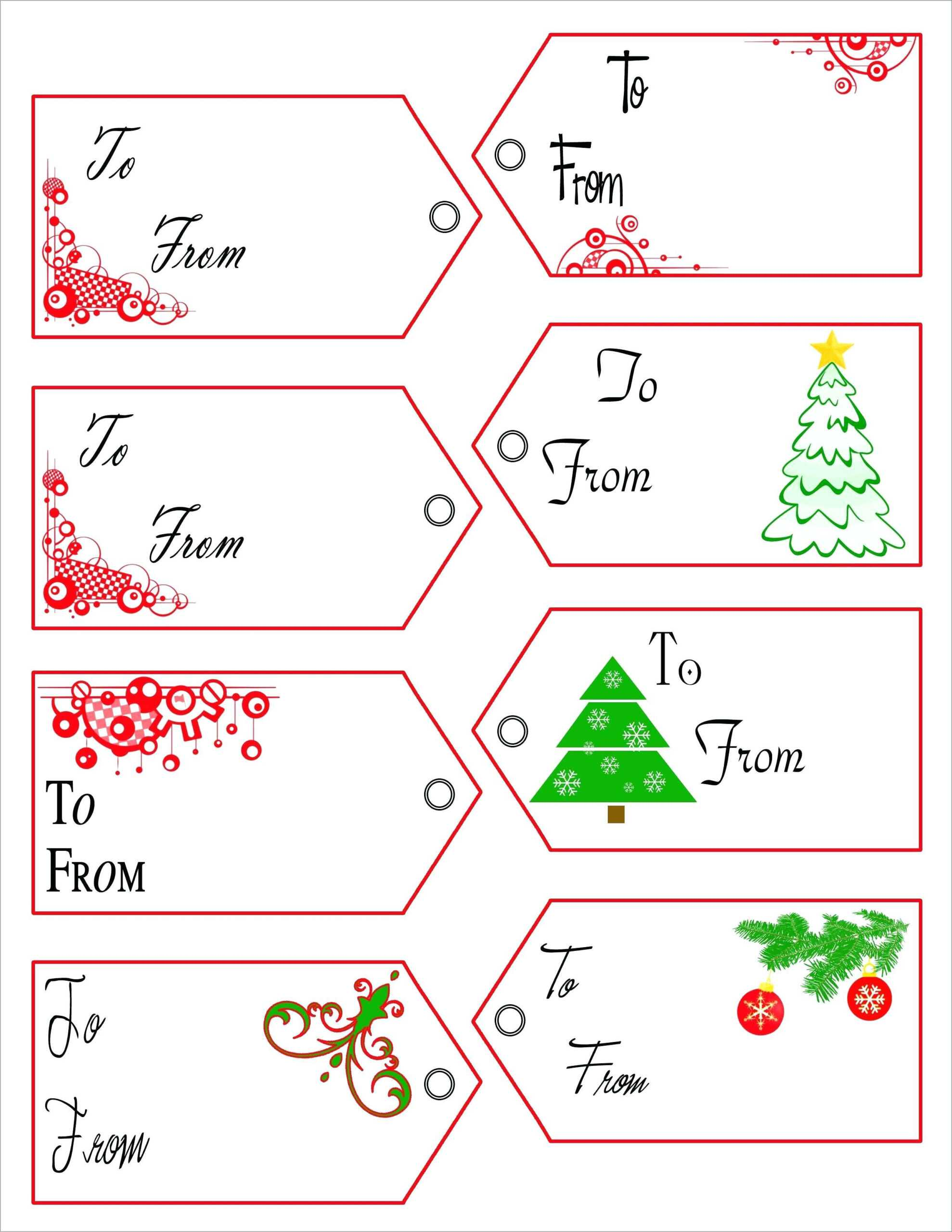 Christmas Name Tag Template - Raptor.redmini.co For Free Gift Tag Templates For Word