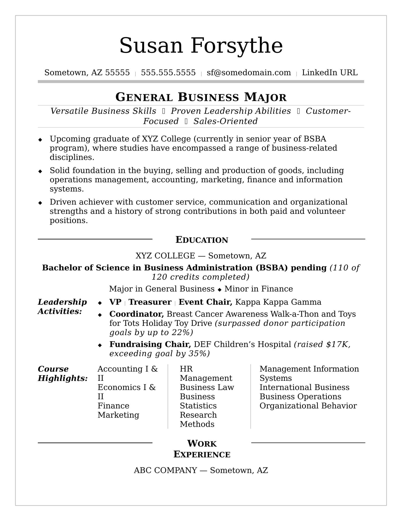 College Resume | Monster With Regard To College Student Resume Template Microsoft Word