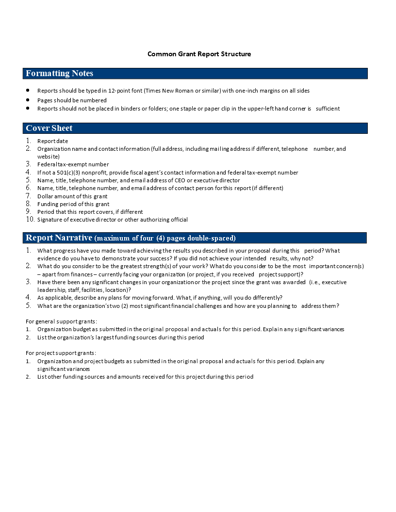 Common Grant Report | Templates At Allbusinesstemplates Inside Funding Report Template