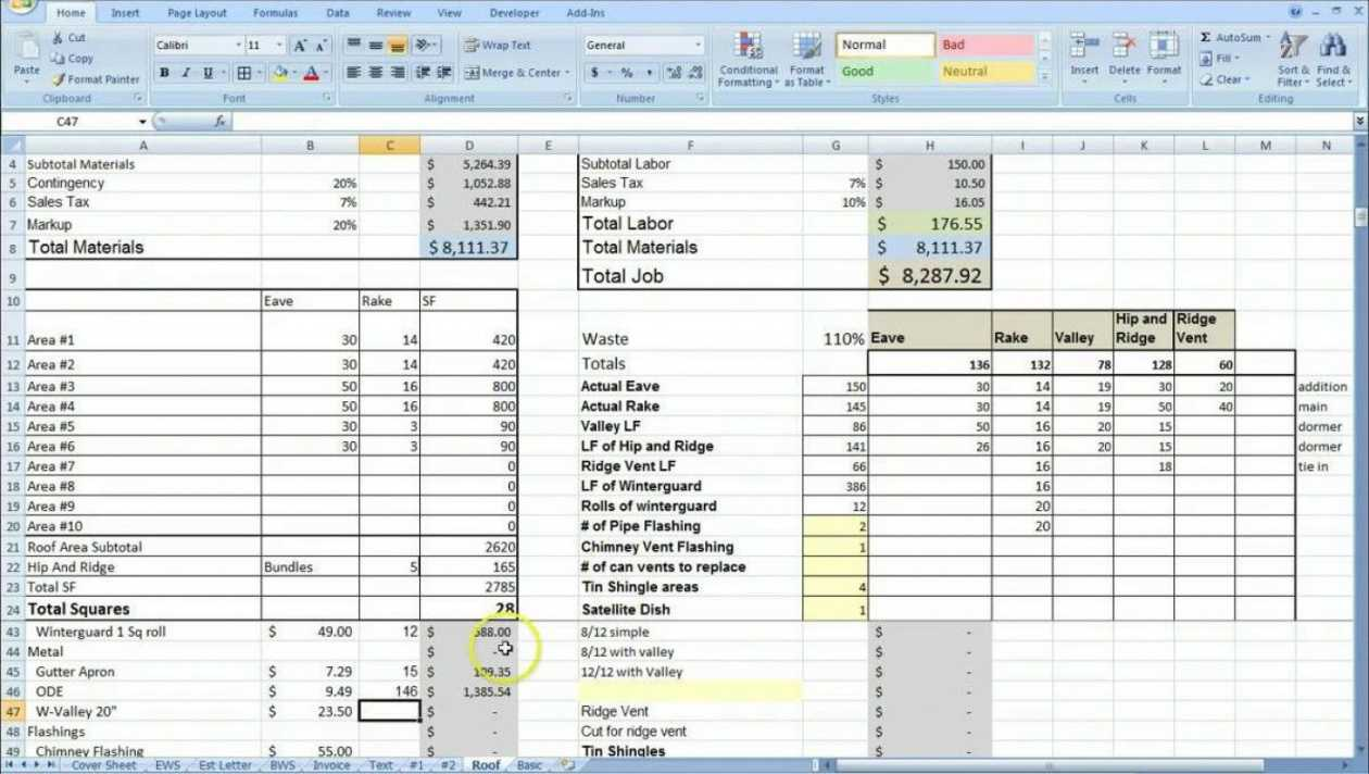 Costing Sheet Template Excel - Horizonconsulting.co Intended For Job Cost Report Template Excel
