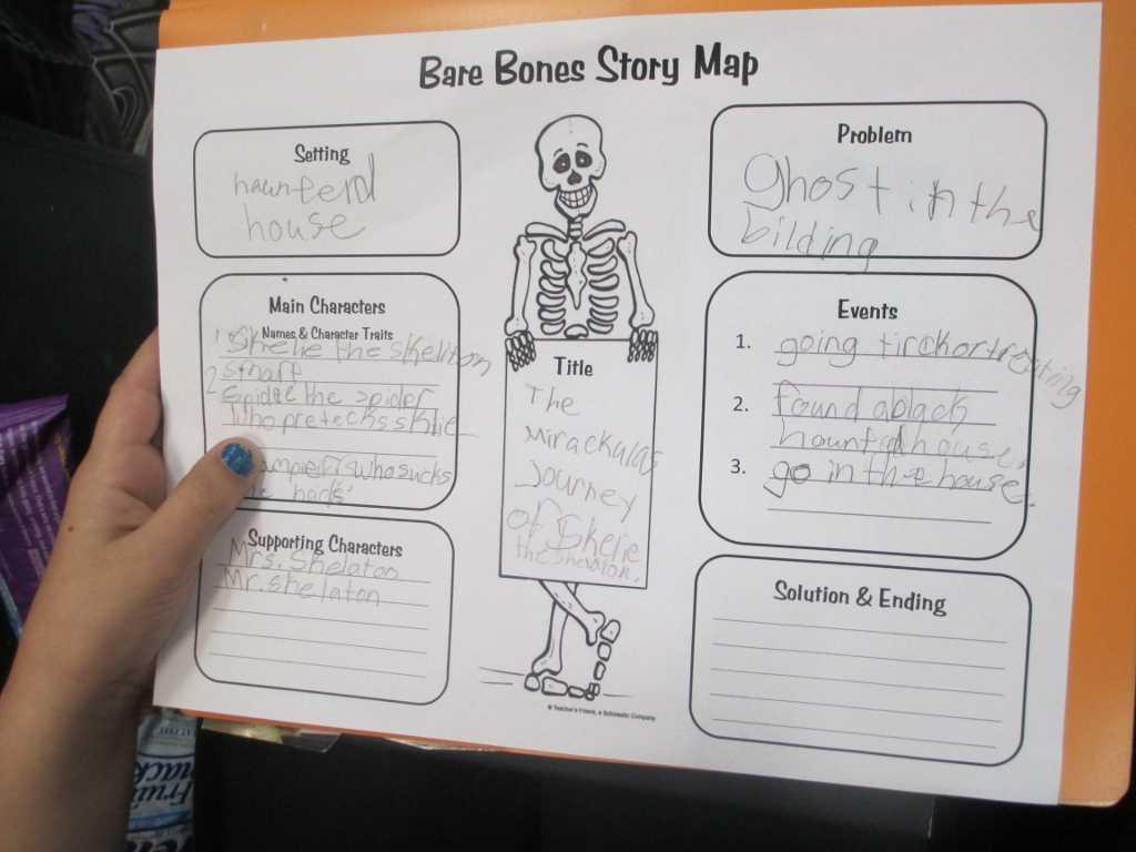 Crafty Symmetric Skeletons   Scholastic Regarding Skeleton Book Report Template