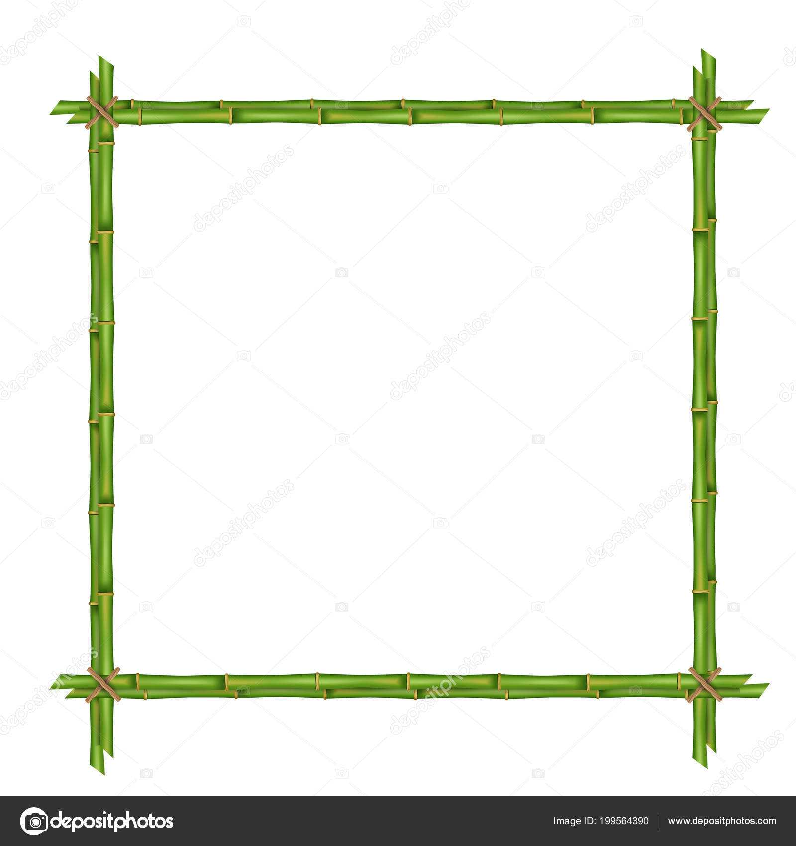 Creative Vector Illustration Bamboo Stems Frame Isolated With Regard To Blank Stem And Leaf Plot Template