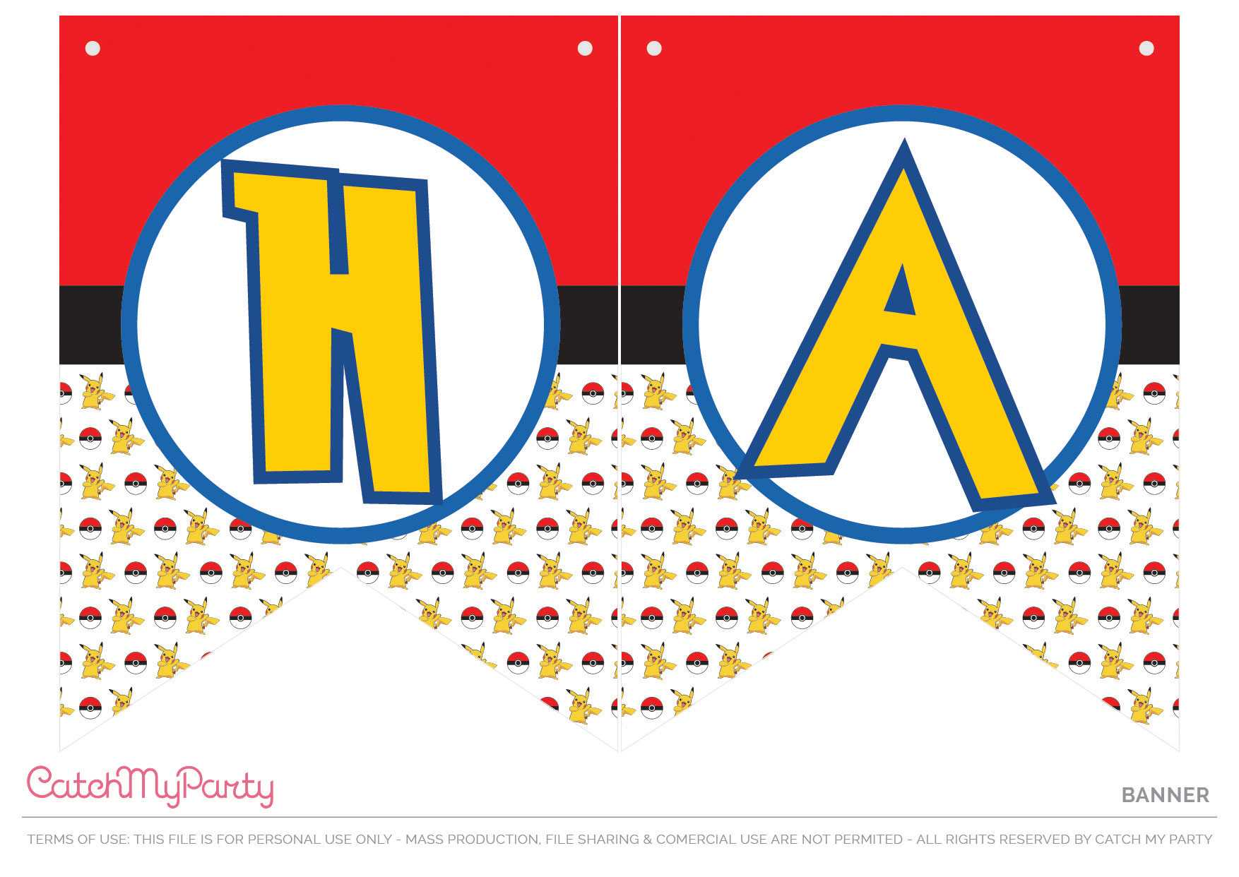 Download These Free Pokemon Printables Now! | Catch My Party Inside Cars Birthday Banner Template