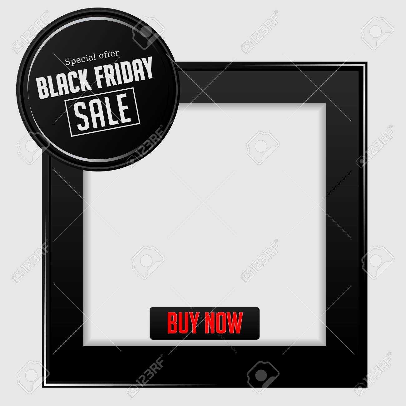 Elegant Black Friday Sale Black Frame Banner Template For Product.. With Product Banner Template