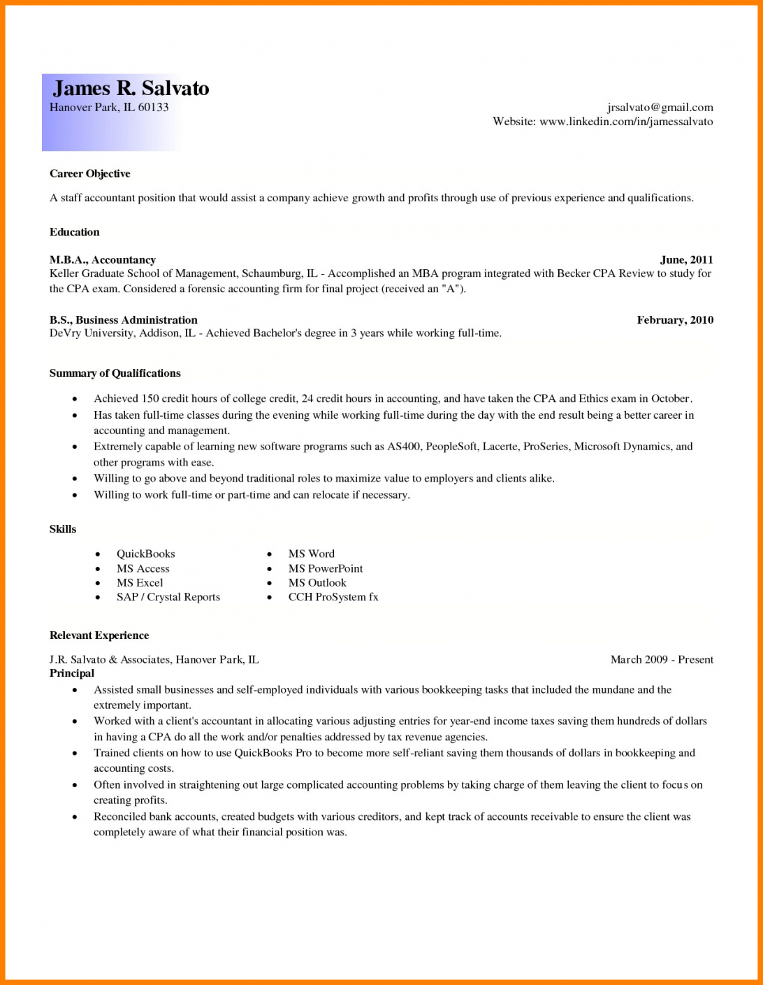 Entry Level Resume Accounting Samples Summary For Template Throughout Forensic Accounting Report Template