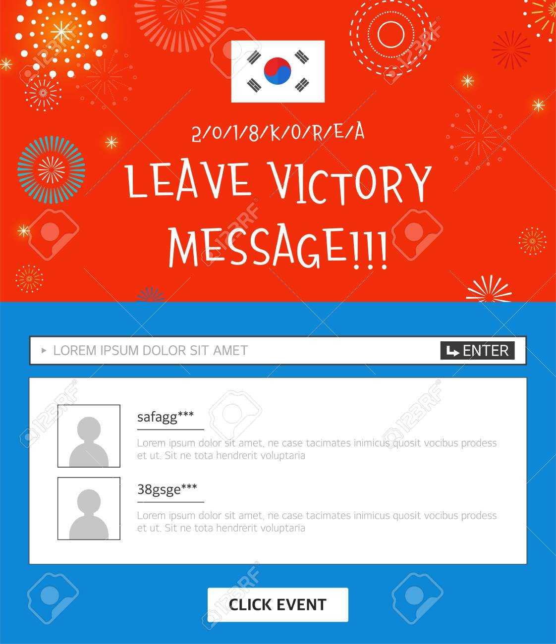 Event Banner Template – Leave Victory Message With Korean Flag Pertaining To Event Banner Template