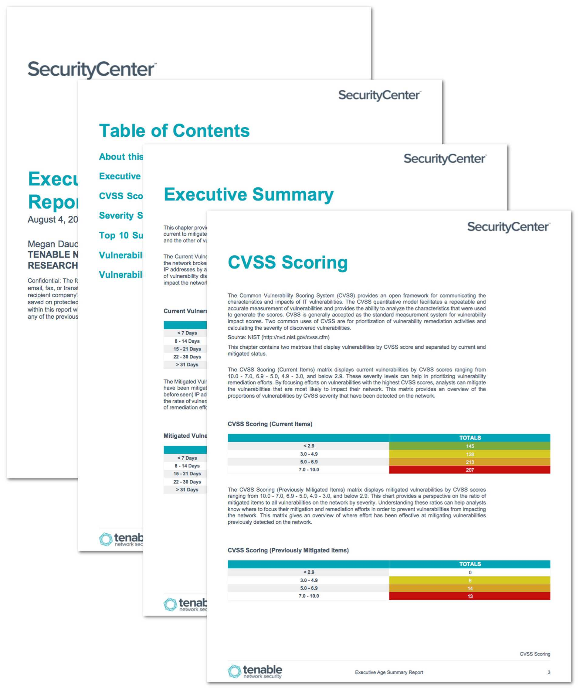 Executive Age Summary Report – Sc Report Template   Tenable® Inside Nessus Report Templates