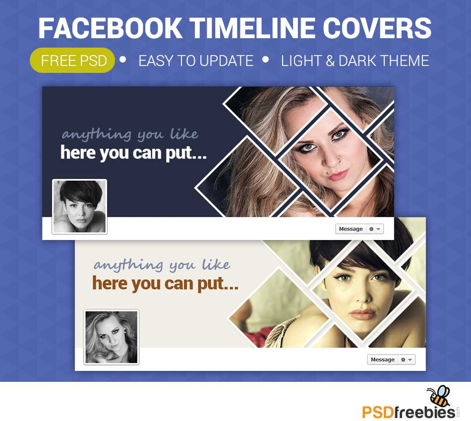 Facebook Timeline Covers Free Psd   Psdfreebies Within Facebook Banner Template Psd
