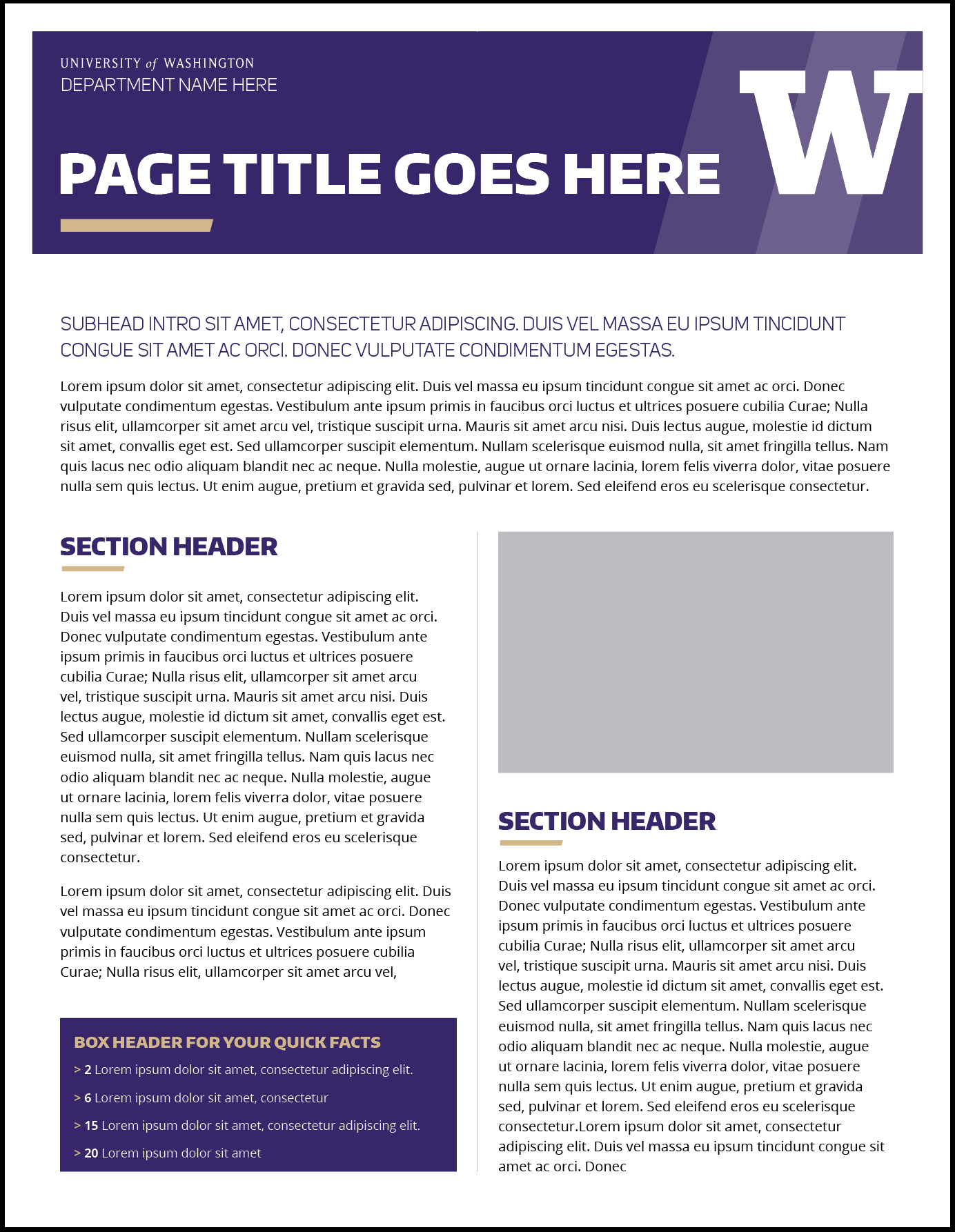 Fact Sheet | Uw Brand Within Fact Sheet Template Word