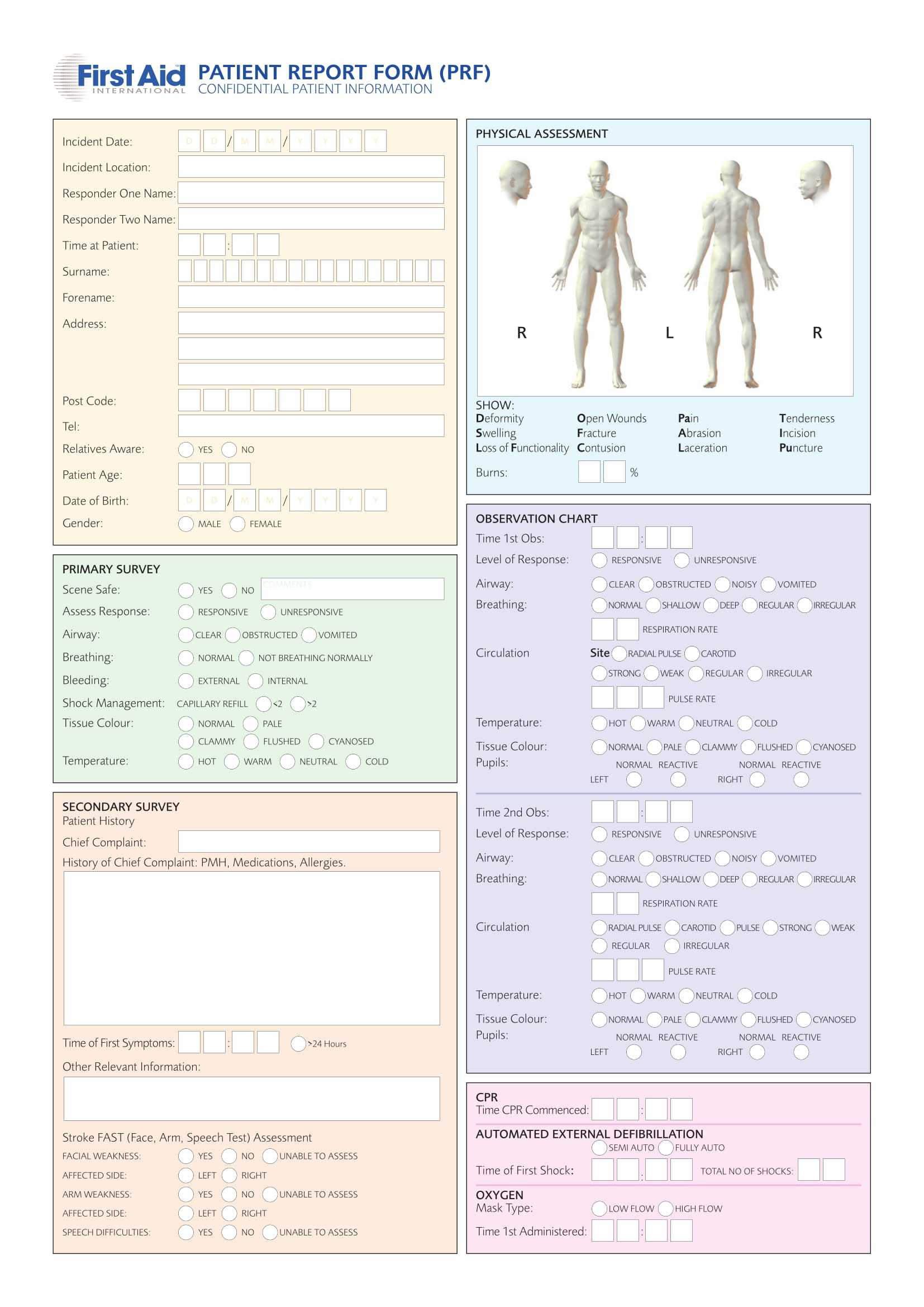Free 14+ Patient Report Forms In Pdf   Ms Word Inside Patient Report Form Template Download