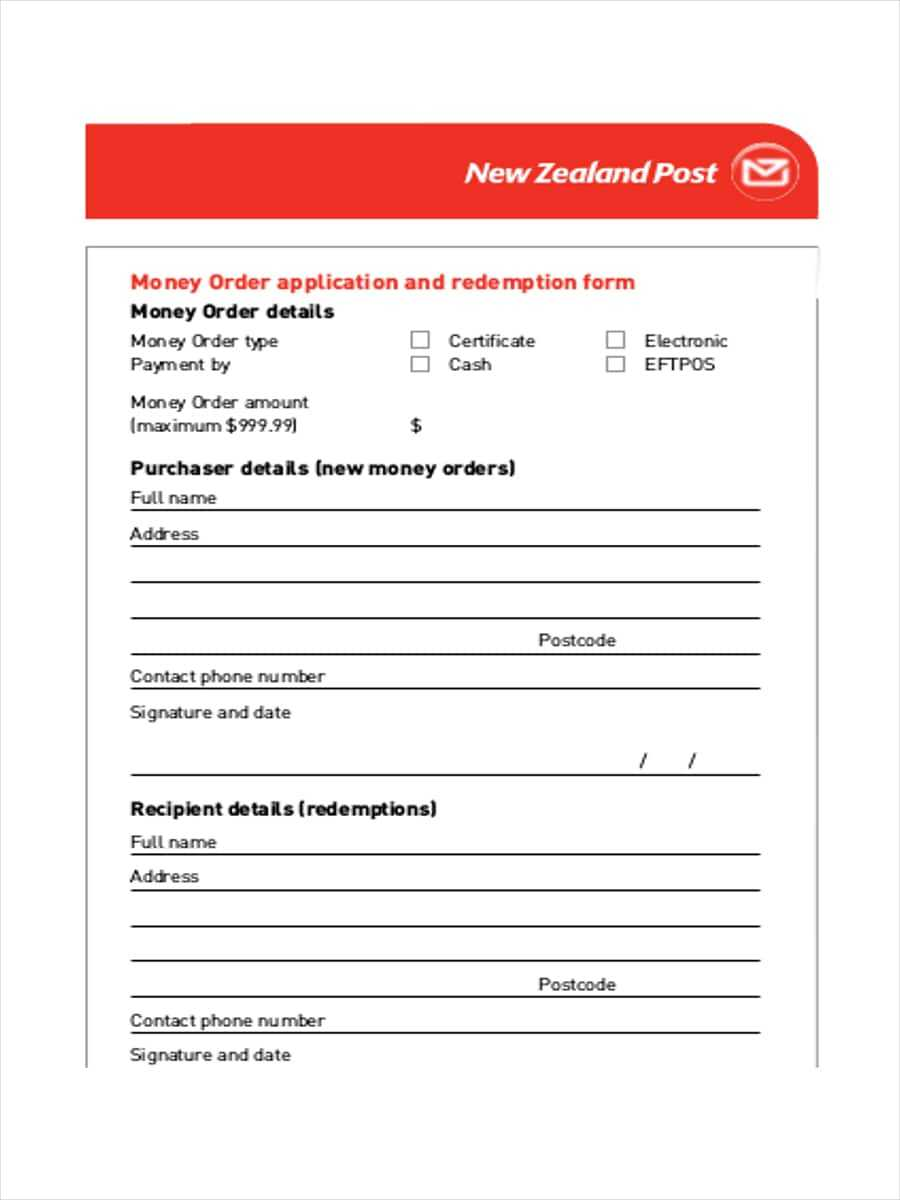 Free 5+ Money Order Examples & Samples In Pdf | Examples Within Blank Money Order Template