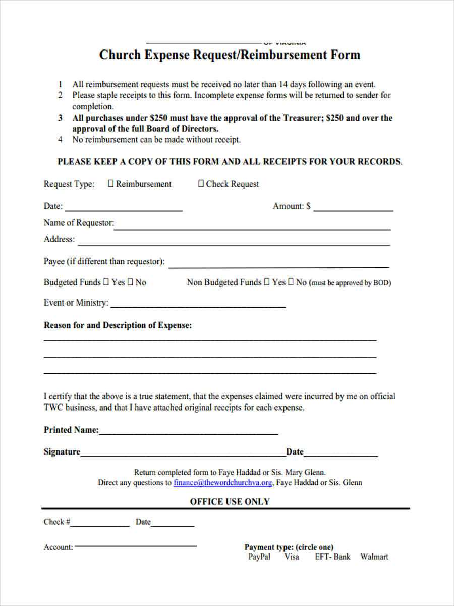 Free 8+ Sample Request For Reimbursement Forms In Ms Word   Pdf In Travel Request Form Template Word