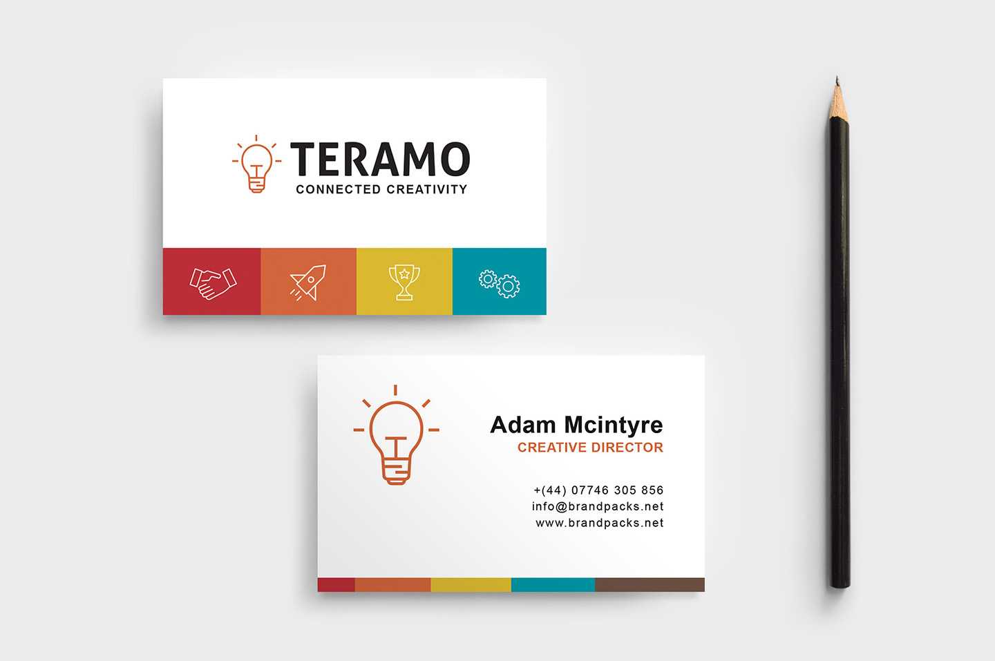 Free Business Card Template In Psd, Ai & Vector – Brandpacks Throughout Blank Business Card Template Photoshop