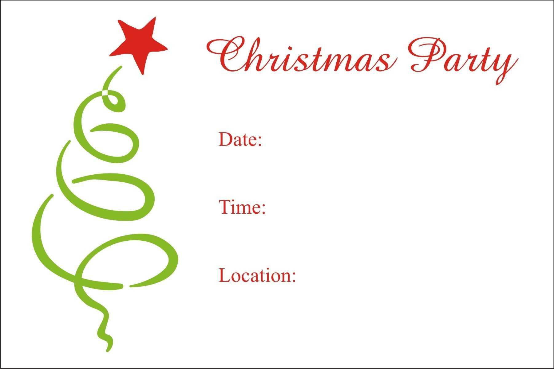 Free Christmas Party Invitation – Raptor.redmini.co Inside Free Christmas Invitation Templates For Word