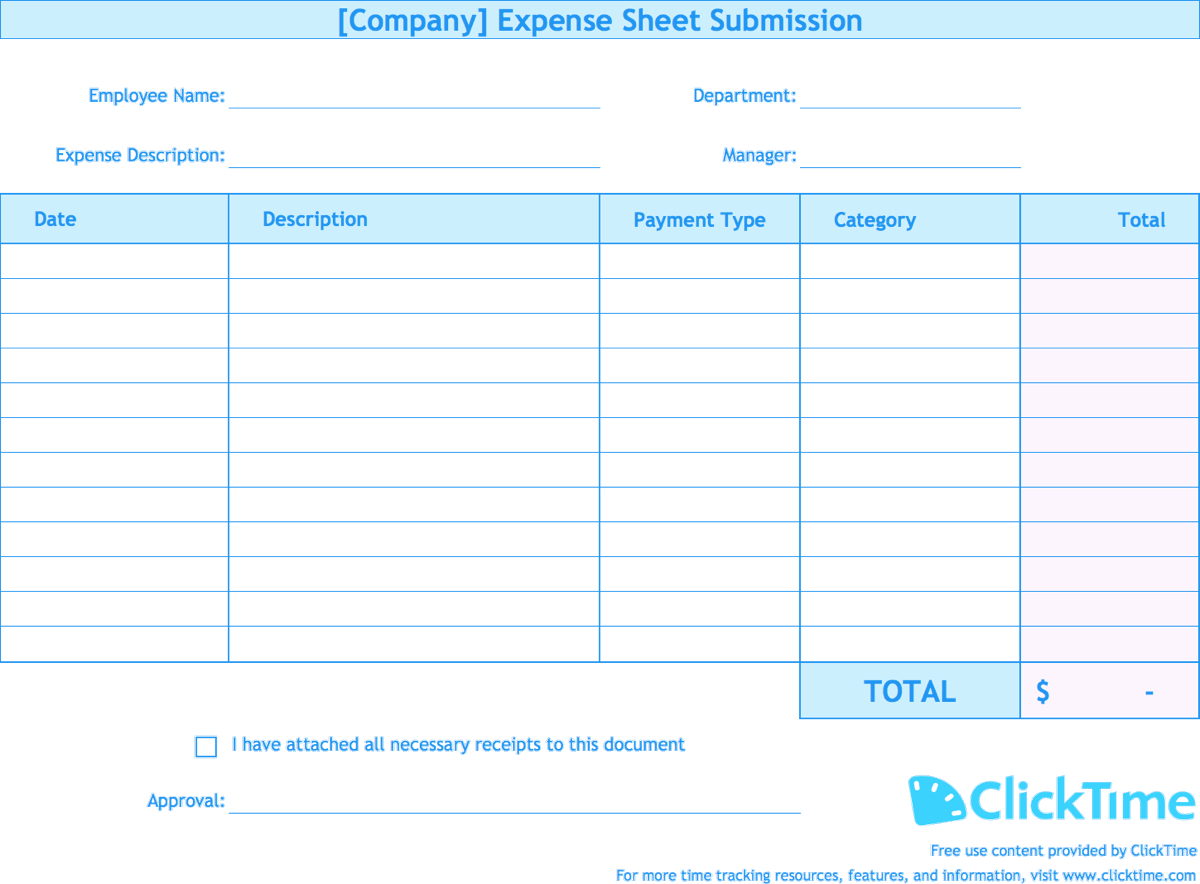 Free Excel Expense Report Template – Horizonconsulting.co Intended For Expense Report Spreadsheet Template Excel