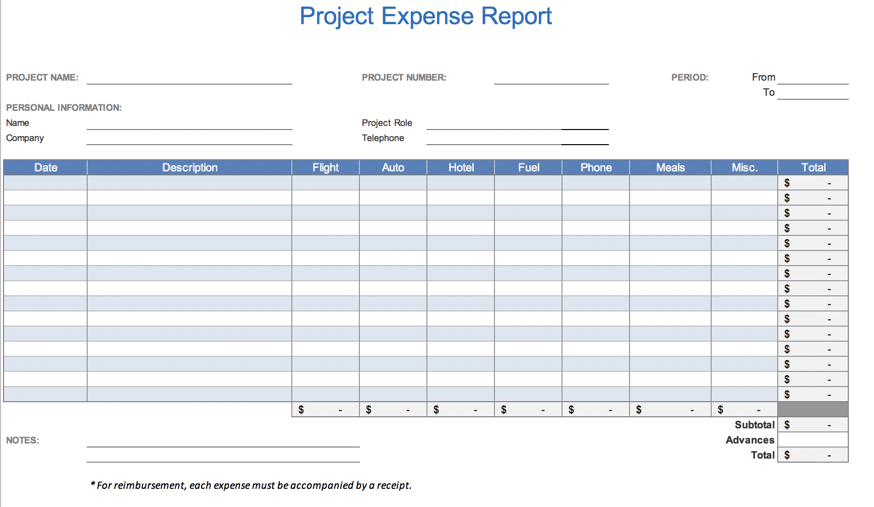 Free Excel Expense Report Template – Horizonconsulting.co Pertaining To Expense Report Spreadsheet Template Excel