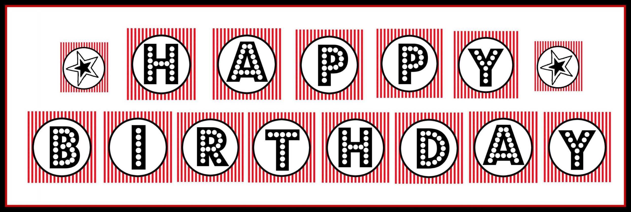 Free Happy Birthday Banner Template – Raptor.redmini.co For Free Printable Happy Birthday Banner Templates