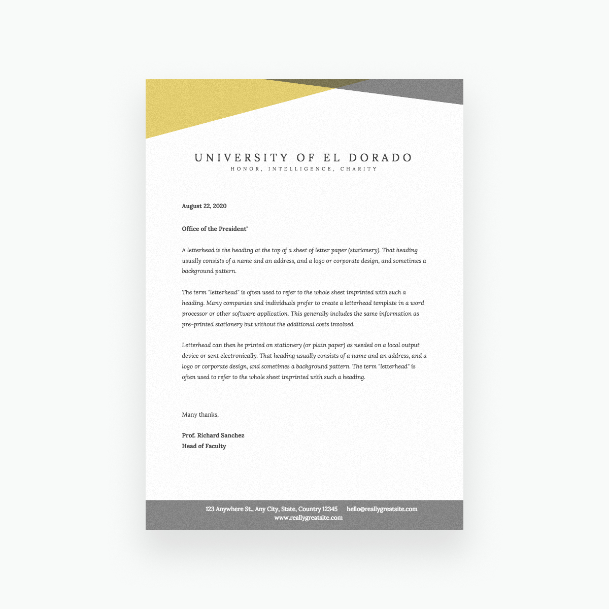 Free Online Letterhead Maker With Stunning Designs – Canva Regarding Headed Letter Template Word