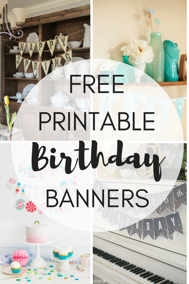 Free Printable Birthday Banners – The Girl Creative With Diy Birthday Banner Template