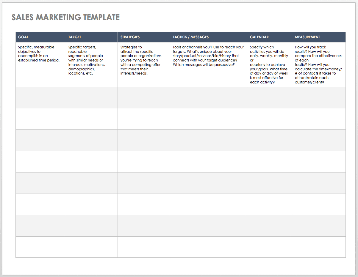 Free Sales Pipeline Templates   Smartsheet With Sales Lead Report Template