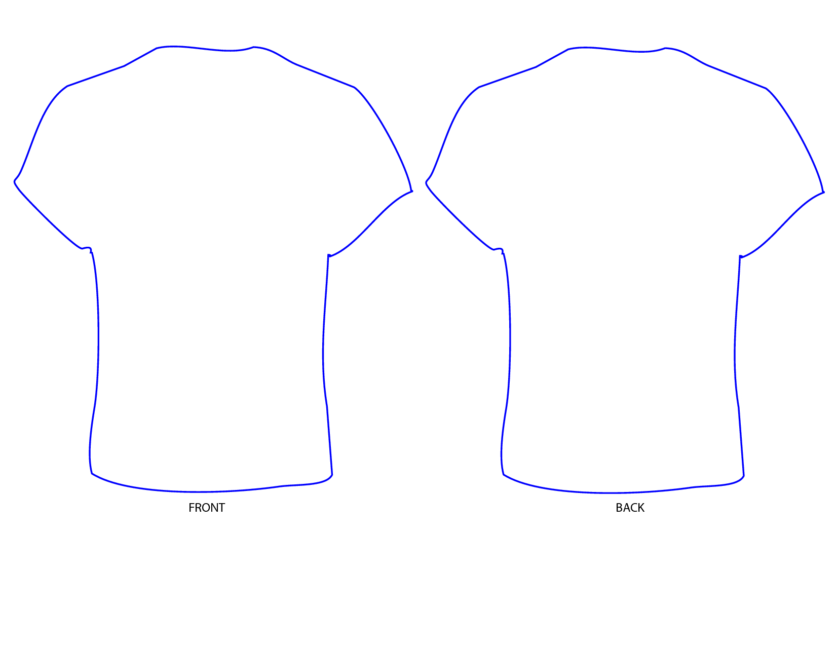 Free T Shirt Template Printable, Download Free Clip Art Intended For Blank Tshirt Template Printable