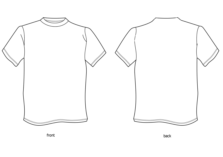 Free Tshirt Template, Download Free Clip Art, Free Clip Art In Blank Tshirt Template Printable