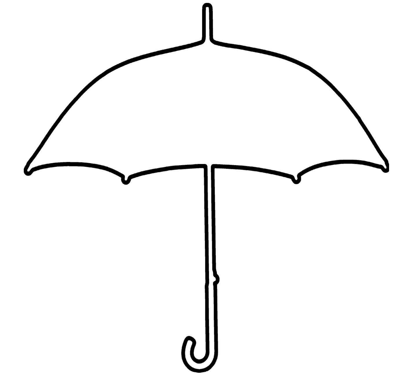 Free Umbrella Template Printable, Download Free Clip Art Pertaining To Blank Umbrella Template