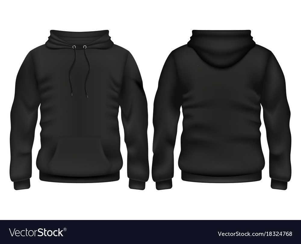 Front And Back Black Hoodie Template Pertaining To Blank Black Hoodie Template
