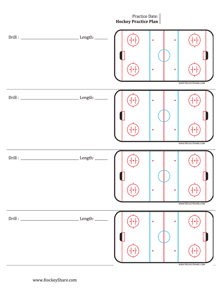 Hockey Practice Sheeyts - Fill Online, Printable, Fillable Inside Blank Hockey Practice Plan Template