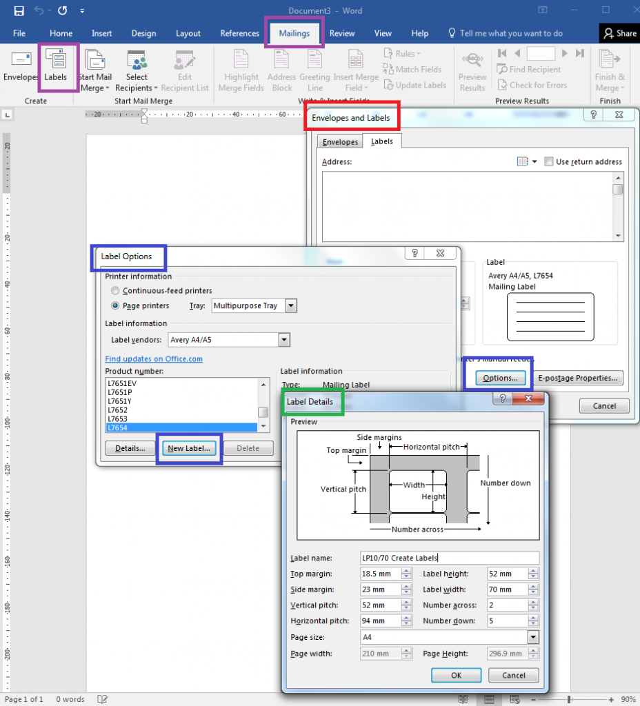 How To – How To Create Your Own Label Templates In Word In Microsoft Word Sticker Label Template