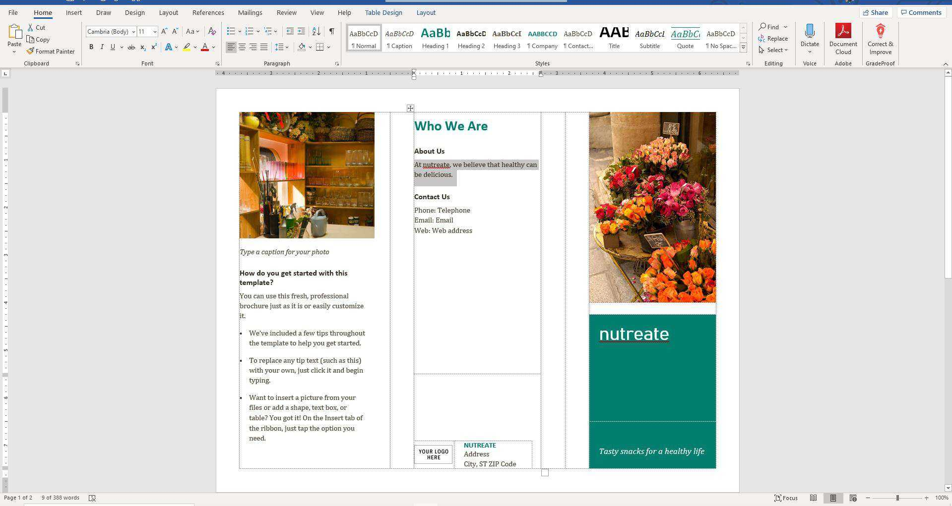 How To Make A Brochure On Microsoft Word Within Microsoft Word Pamphlet Template