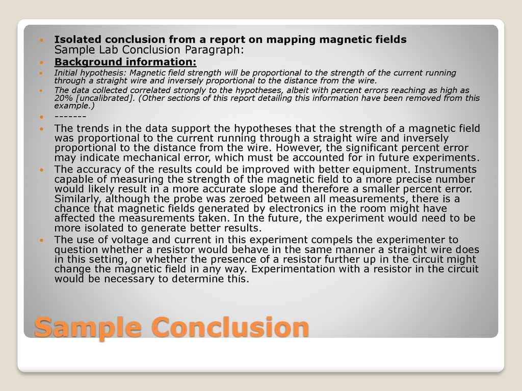How To Write A Good Lab Report – Ppt Download Within Lab Report Conclusion Template