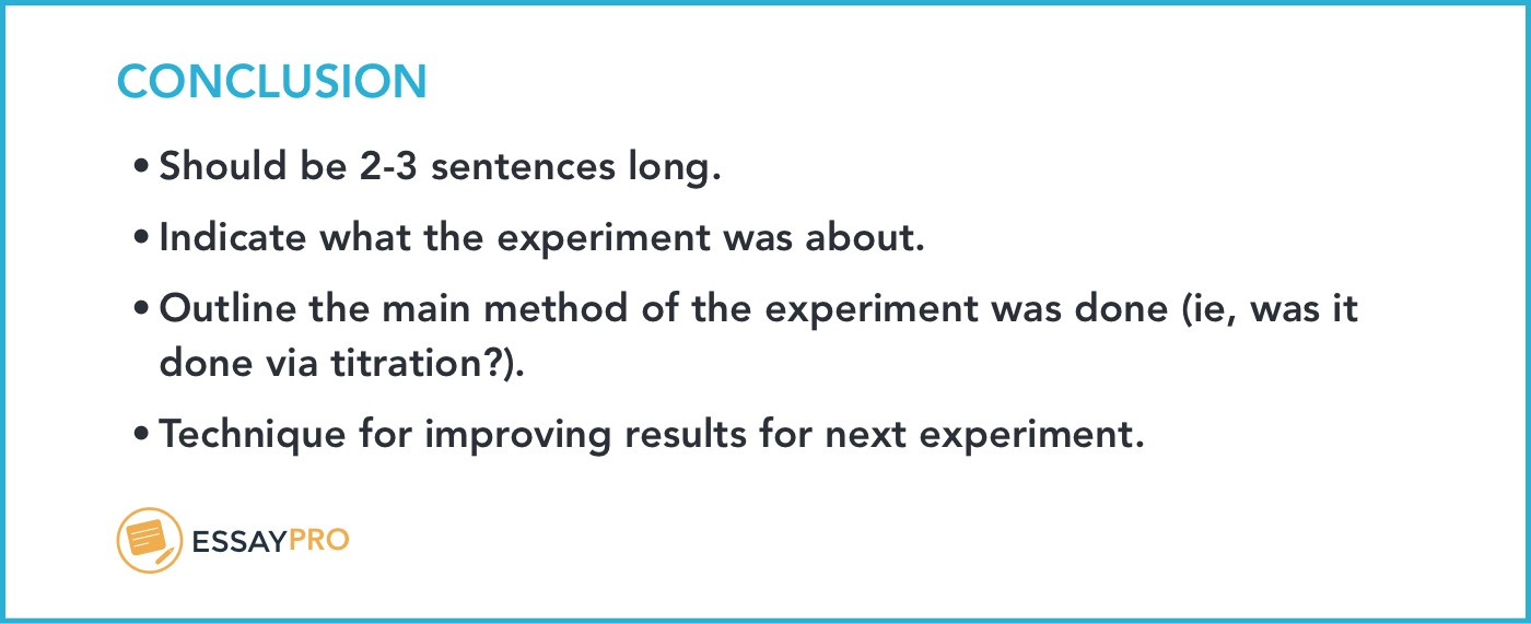 How To Write A Lab Report: Format, Examples   Essaypro Pertaining To Lab Report Conclusion Template