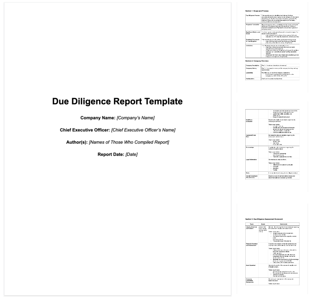 How To Write Due Diligence Report For M&a [+ Sample] In Vendor Due Diligence Report Template