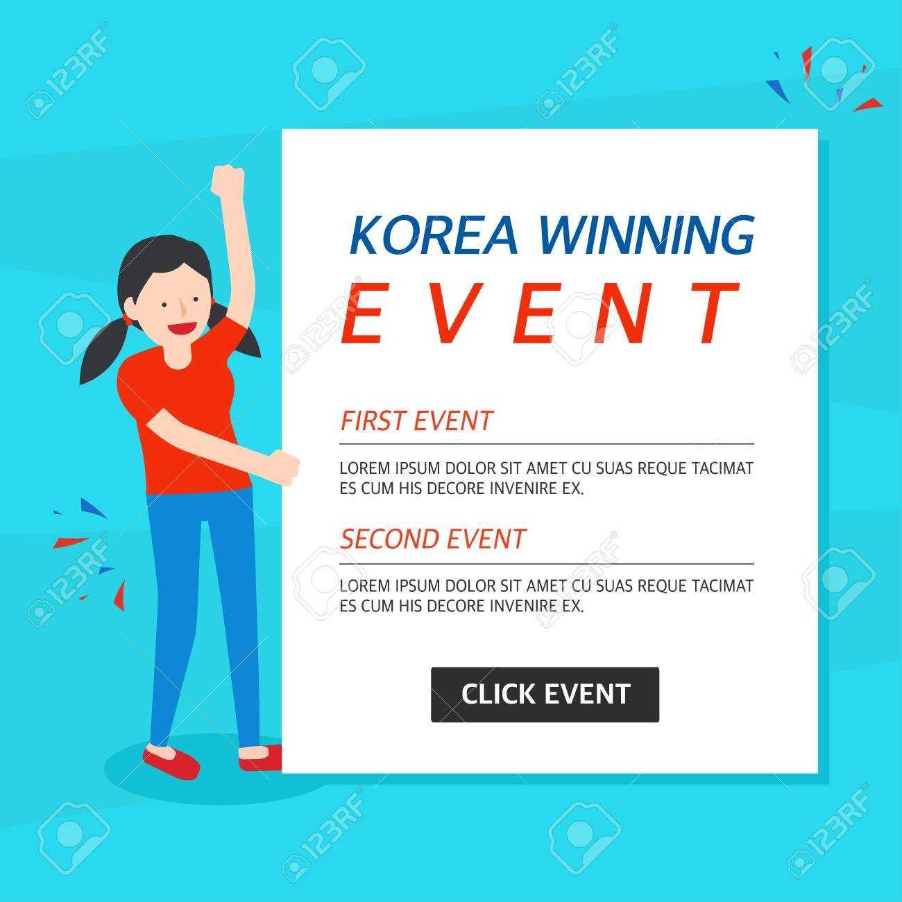 Korea Winning Event Banner Template Throughout Event Banner Template