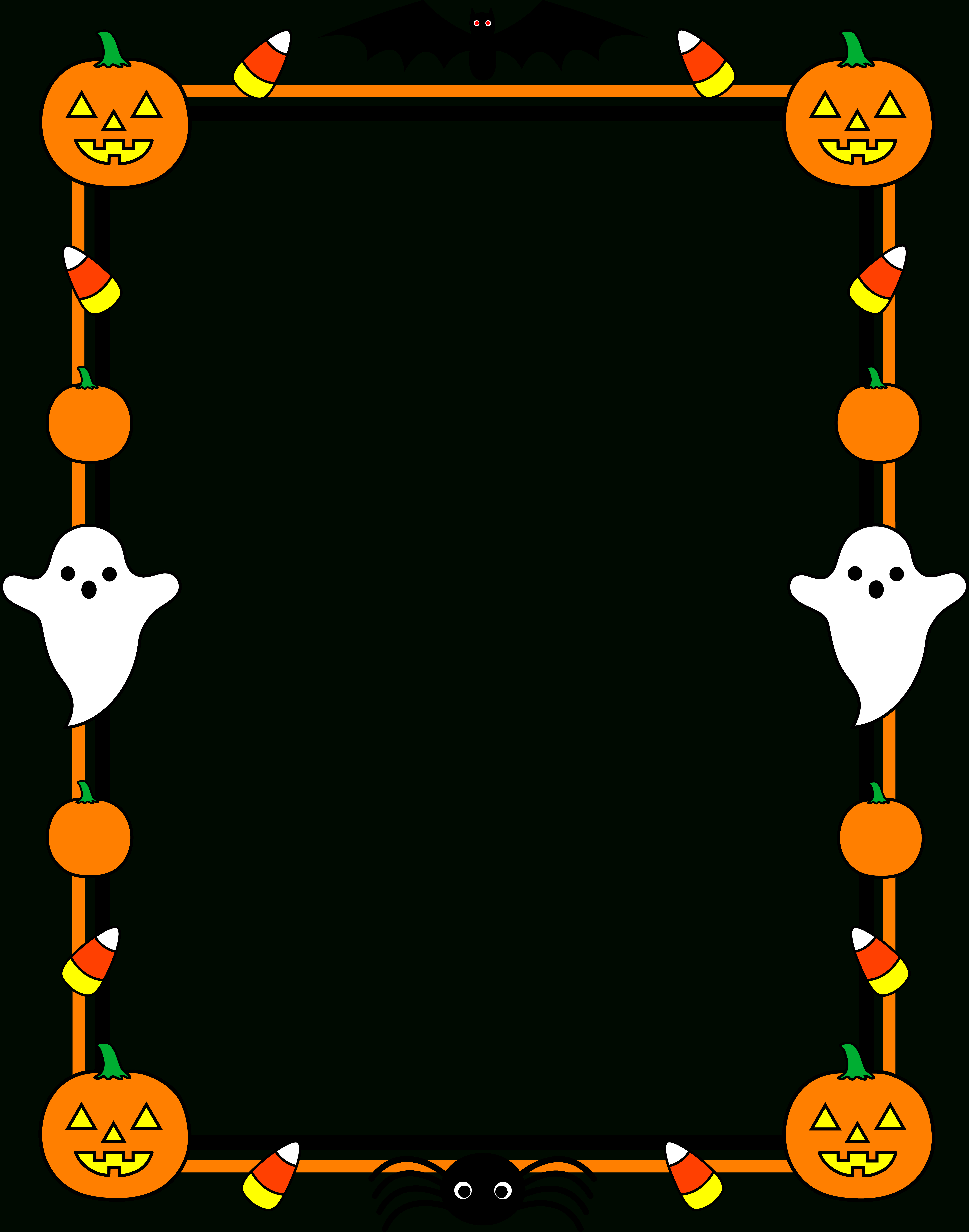Library Of Halloween Page Borders Banner Royalty Free Throughout Free Halloween Templates For Word